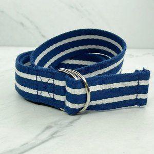 Polo by Ralph Blue White Striped Web Belt Size 16